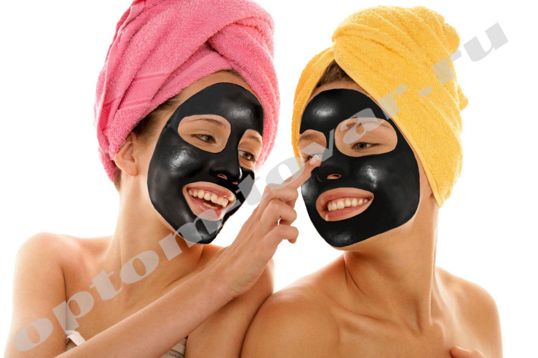 маска против черных точек желатин активированный уголь